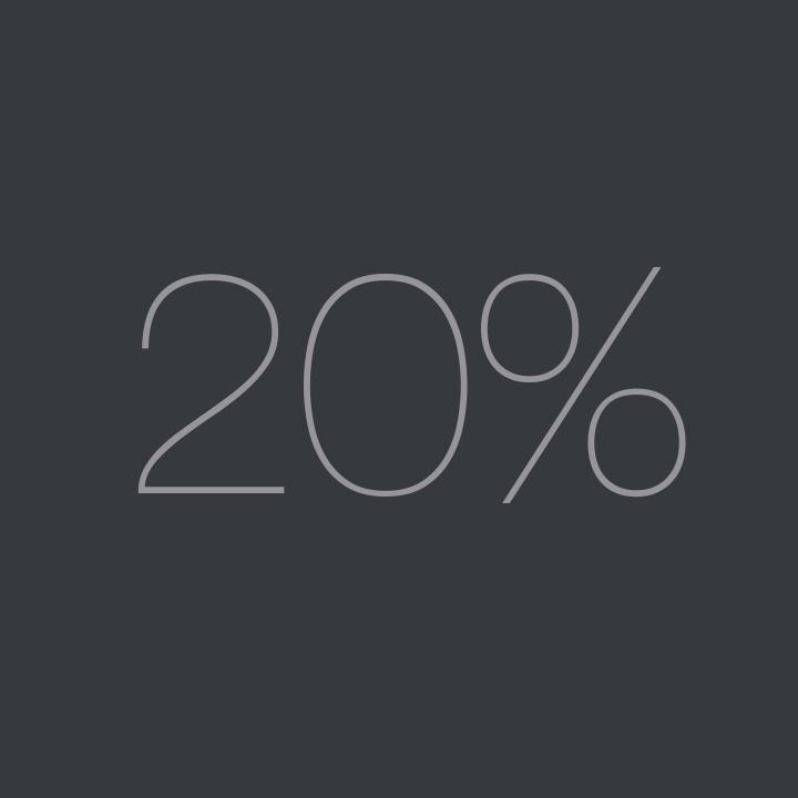 Only 20% Margin